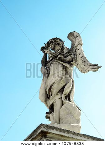 Angel Statue And Castel Sant' Angelo