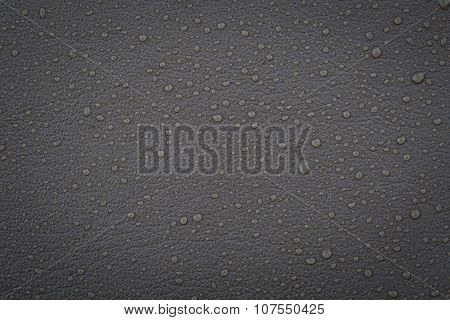 Gray Leather With Water Droplets
