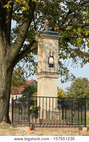 WIELICZKA, POLAND - OCTOBER 8, 2015:  Old Wayside shrine in Wieliczka near Cracow. Poland