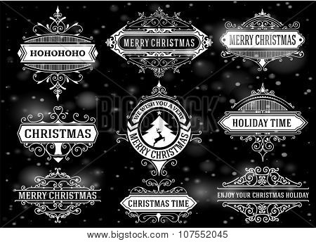 Mega Christmas labels and banners set.