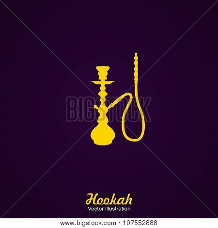 Black Silhouette of a Hookah. Vector Illustration.