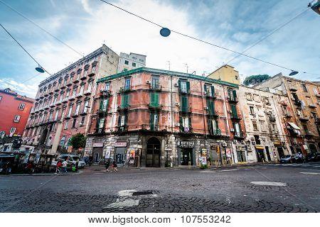Street in historic center of Naples,