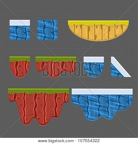 Textures for Platformers Vector Collection