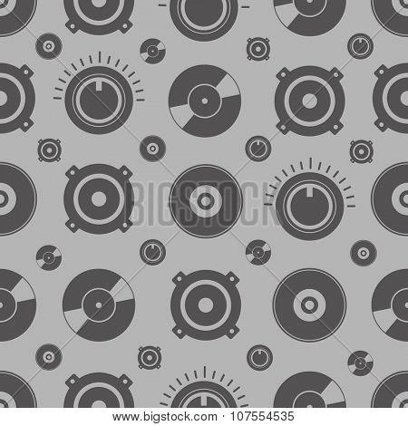 Audio equipment seamless background
