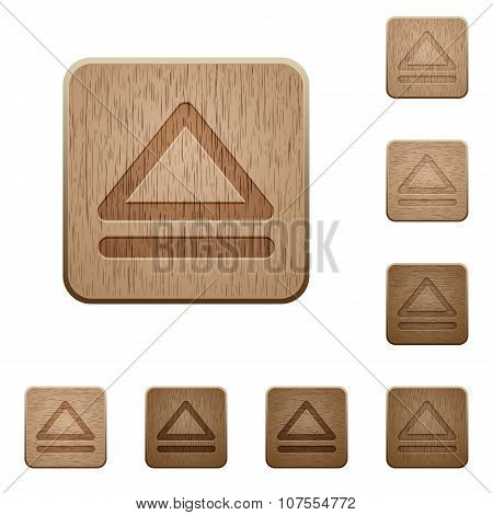 Media Eject Wooden Buttons