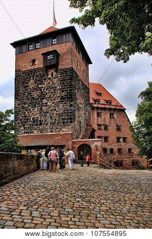 Nurnberg, Germany - July 13 2014. View At The Famous  Kaiserburg Imperial Castle In Nuremberg, Germa