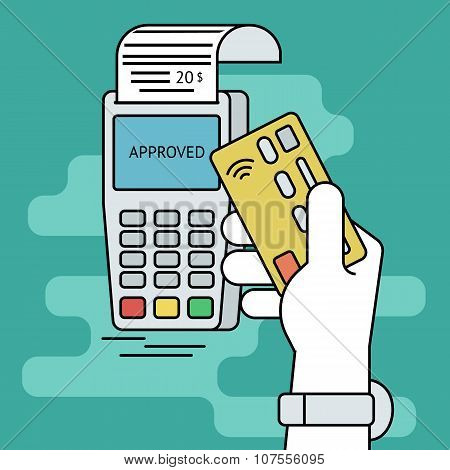 Wireless mobile payment by credit card
