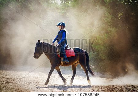 Riding Lesson In Dust