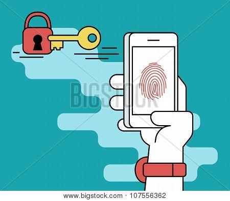 Fingerprint scanning on smartphone