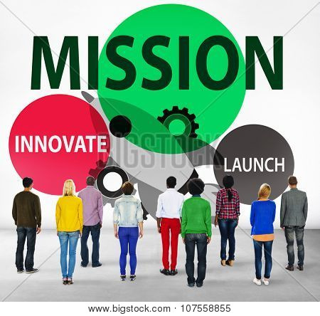 Mission Innovate Launch Success Goal Concept