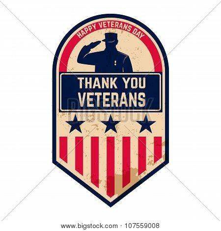 Happy Veterans Day label