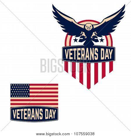Happy Veterans Day labels