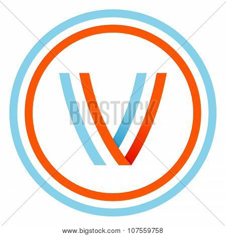 V Letter Design Template