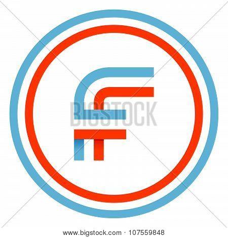 F Letter Design Template