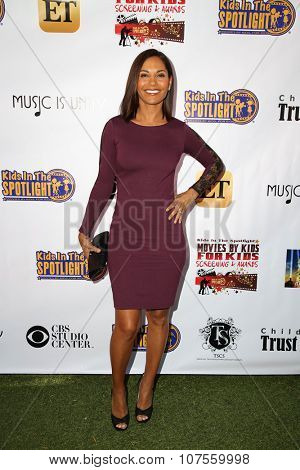 LOS ANGELES - NOV 7:  Salli Richardson Whitfield at the Kids In The Spotlight's Movies By Kids, For Kids Film Awards at the Fox Studios on November 7, 2015 in Century City, CA