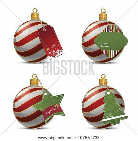 Christmas Balls With Price Tags