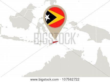 East Timor On World Map