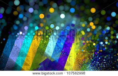 Color Spectrum Bokeh Blurry Background. Rainbow Background