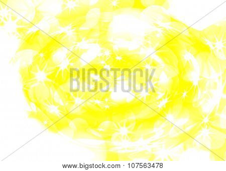 abstract golden background of the bright lights and star
