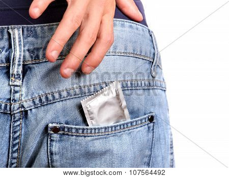Condom In The Jeans Pocket