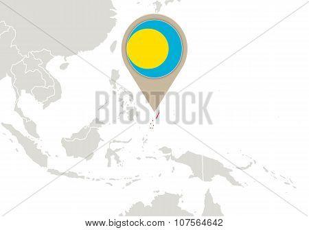 Palau On World Map
