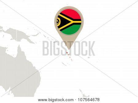 Vanuatu On World Map