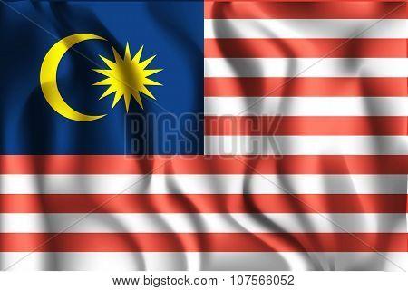 Flag Of Malaysia. Rectangular Shape Icon