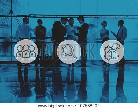 Searching Human Resources Recruitment Teamwork Corporate Concept