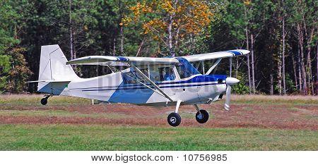 Classic airplane landing