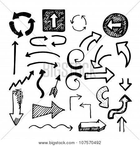 Sketch doodle arrows