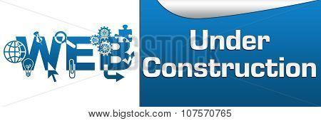 Web Under Construction Horizontal Banner
