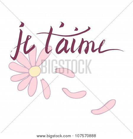 Lettering French card