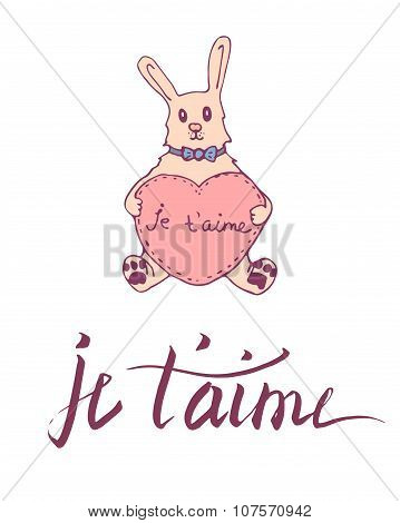 French lettering card.