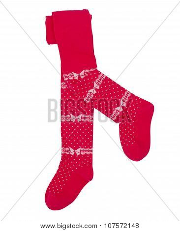 Child's tights. Isolated on white background