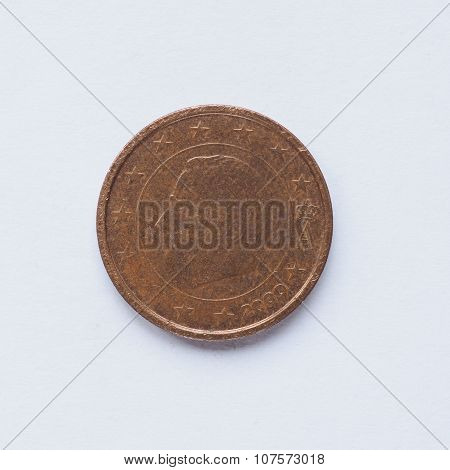 Belgian 2 Cent Coin