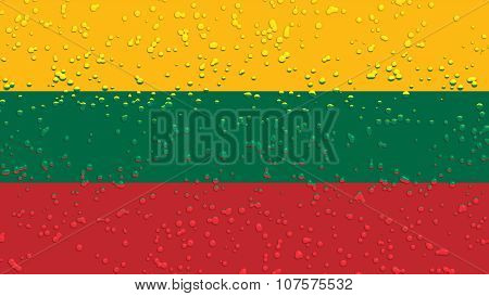 Flag of Lithuania, Lithuanian Flag with water drops