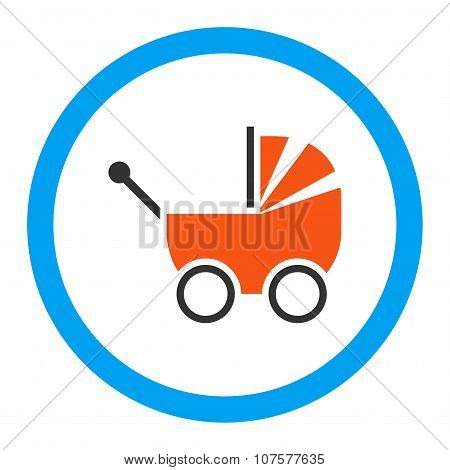 Baby Carriage Rounded Vector Icon