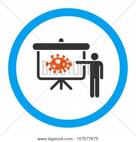 Bacteria Lecture Rounded Vector Icon