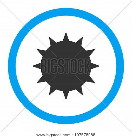 Bacterium Rounded Vector Icon