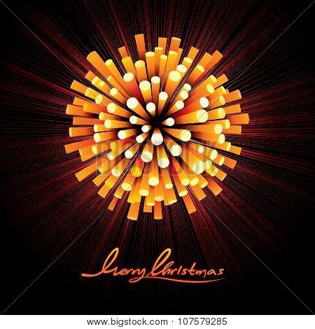 Christmas Fireworks Vector Background