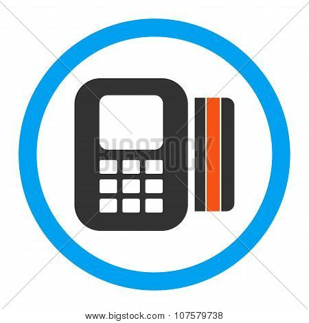 Card Processor Rounded Vector Icon