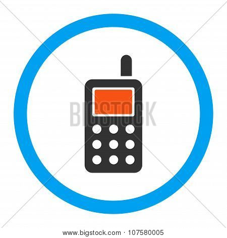 Cell Phone Rounded Vector Icon