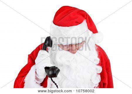 Santa Claus Receives A Phone Call