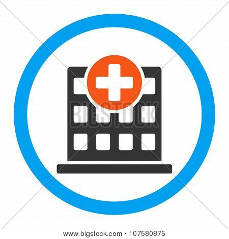 Clinic Rounded Vector Icon