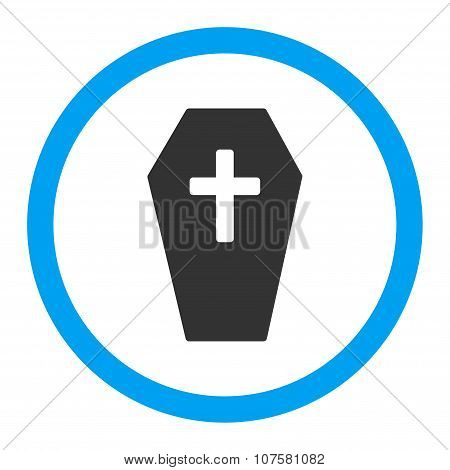 Coffin Rounded Vector Icon