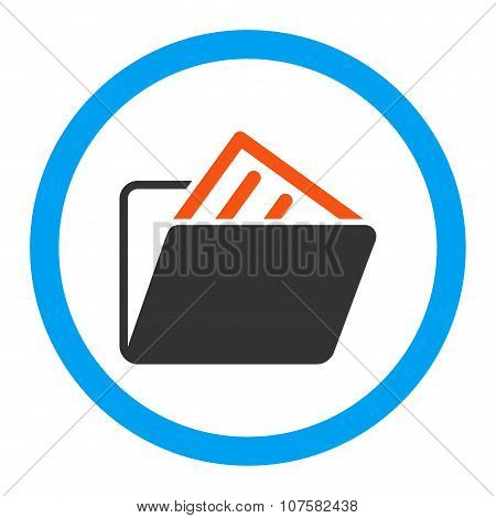 Document Folder Rounded Vector Icon