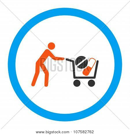 Drugs Shopping Rounded Vector Icon