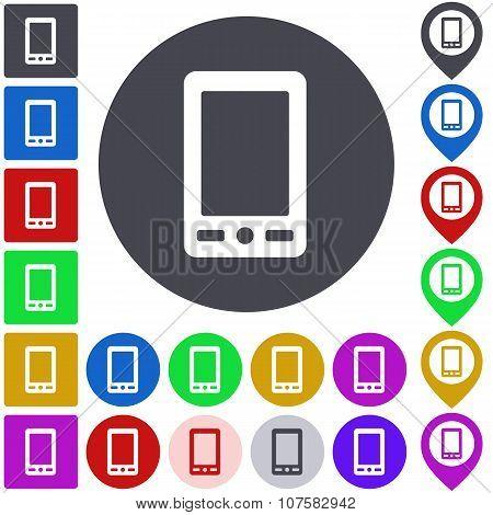 Color cellphone icon set