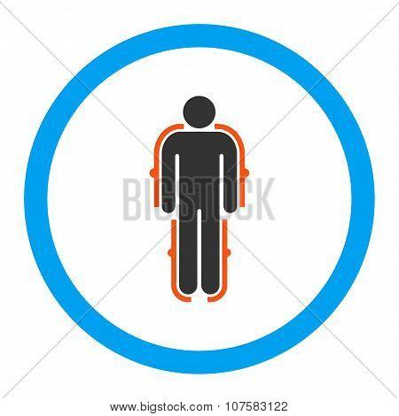 Exoskeleton Rounded Vector Icon