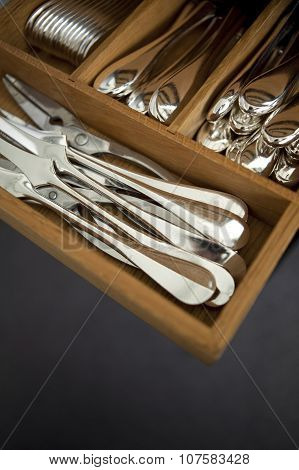Silverware In A Drawer